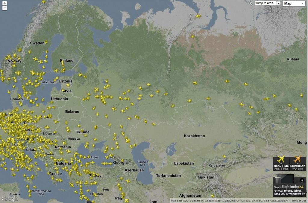Полеты самолетов в реальном времени от World CamRu